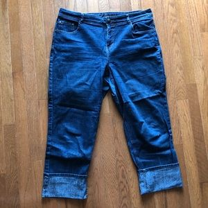 Women's Plus Denim Capris